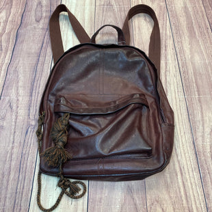 Primary Photo - BRAND: MOSSIMO STYLE: BACKPACK COLOR: CHOCOLATE SIZE: LARGE OTHER INFO: FAUX LEATHER W/ BRAIDED TIES SKU: 178-178102-57126