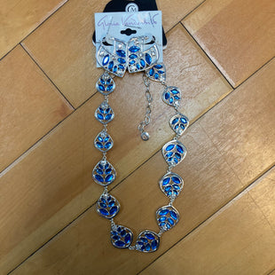 Primary Photo - BRAND: GLORIA VANDERBILT STYLE: NECKLACE SET COLOR: BLUE SIZE: 02 PIECE SET OTHER INFO: EARRING- BLUE/SILVER SKU: 178-17883-13653