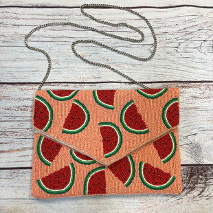 Primary Photo - BRAND:    N/A STYLE: CLUTCH COLOR: PINK OTHER INFO: WATERMELONS W/GOLD XBODY SKU: 178-178212-6195