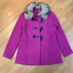 Primary Photo - BRAND: DIVIDED STYLE: COAT LONG COLOR: FUSCHIA SIZE: L OTHER INFO: SIZE 12-FAUX FUR COLLAR SKU: 178-178102-53528