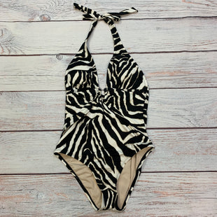 Primary Photo - BRAND: WHITE HOUSE BLACK MARKET STYLE: SWIMSUIT COLOR: ZEBRA PRINT SIZE: M OTHER INFO: NEW! WHITE/BLACK/TAN SKU: 178-17853-811