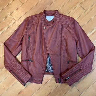 Primary Photo - BRAND: ANTHROPOLOGIE STYLE: JACKET OUTDOOR COLOR: RUST SIZE: XS OTHER INFO: ETT:TWA- FAUX LEATHER SKU: 178-178102-52930