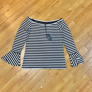 Primary Photo - BRAND: DKNY STYLE: TOP LONG SLEEVE COLOR: STRIPED SIZE: S OTHER INFO: NEW!/ BLACK/ BEIGE SKU: 178-178199-327