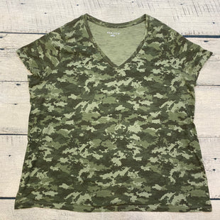 Primary Photo - BRAND: AVA & VIV STYLE: TOP SHORT SLEEVE BASIC COLOR: CAMOFLAUGE SIZE: 2X SKU: 178-17817-26874