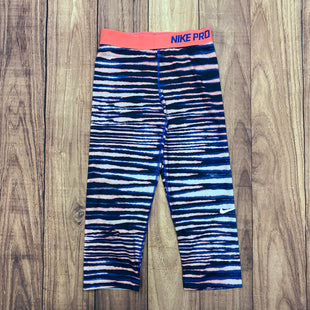 Primary Photo - BRAND: NIKE APPAREL STYLE: ATHLETIC CAPRIS COLOR: STRIPED SIZE: S OTHER INFO: NAVY/ORANGE/WHITE SKU: 178-178102-56883