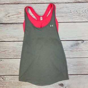 Primary Photo - BRAND: UNDER ARMOUR STYLE: ATHLETIC TANK TOP COLOR: GREY SIZE: M OTHER INFO: PINK BUILT IN BRA SKU: 178-178212-4774