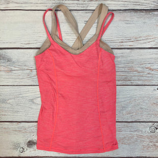 Primary Photo - BRAND: LULULEMON STYLE: ATHLETIC TANK TOP COLOR: PINK SIZE: S OTHER INFO: SZ 6 BEIGE BUILT-IN BRA SKU: 178-178212-4824