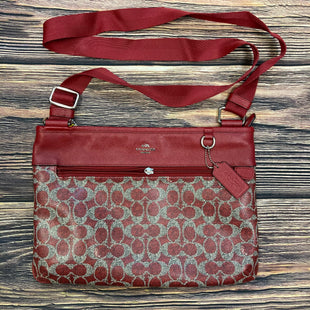 Primary Photo - BRAND: COACH STYLE: HANDBAG DESIGNER COLOR: RED SIZE: MEDIUM OTHER INFO: CROSSBODY- BROKEN ZIPPER SLIGHT STAIN SKU: 178-17883-15478