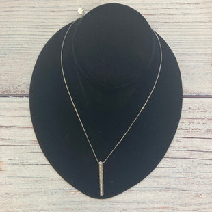 Primary Photo - BRAND: CHICOS STYLE: NECKLACE COLOR: SILVER OTHER INFO: CRYSTAL RECTANGULAR DROP SKU: 178-178102-60711