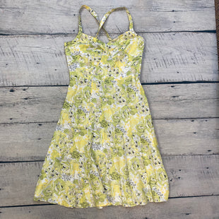 Primary Photo - BRAND: ANN TAYLOR LOFT STYLE: DRESS SHORT SLEEVELESS COLOR: FLOWERED SIZE: M OTHER INFO: SZ 10 GREEN/YELLOW/BLACK/WHITE SKU: 178-178212-3902