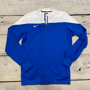 Primary Photo - BRAND: NIKE STYLE: ATHLETIC JACKET COLOR: BLUE WHITE SIZE: L SKU: 178-178203-1741