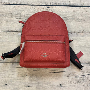 Primary Photo - BRAND: COACH STYLE: BACKPACK COLOR: RED SIZE: MEDIUM OTHER INFO: NEW! $428-SIG MED CHARLIE-WASHED RED SKU: 178-178102-58198