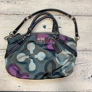 Primary Photo - BRAND: COACH STYLE: HANDBAG DESIGNER COLOR: MULTI SIZE: MEDIUM OTHER INFO: W. CROSSBODY- GREY/PURPLE -PILLING, WEAR SKU: 178-17883-16239