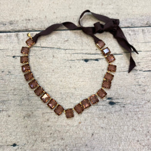 Primary Photo - BRAND: J CREW STYLE: NECKLACE COLOR: BROWN OTHER INFO: SQUARE CRYSTALS SKU: 178-178102-60890