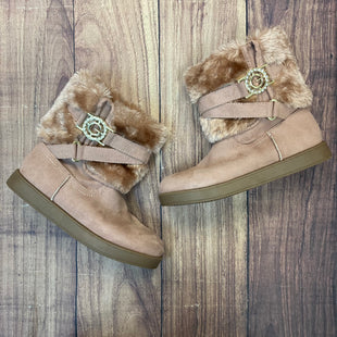 Primary Photo - BRAND: G BY GUESS STYLE: BOOTS ANKLE COLOR: PINK SIZE: 6 OTHER INFO: FURRY TOP - G BUCKLE SKU: 178-17824-11519