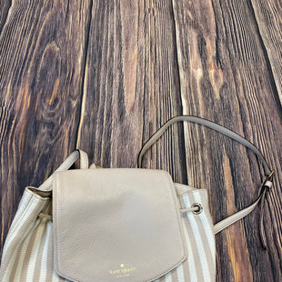 Primary Photo - BRAND: KATE SPADE STYLE: BACKPACK COLOR: STRIPED SIZE: MEDIUM OTHER INFO: WHITE/TAN STRIPES- SLIGHT STAINING SKU: 178-17883-15386