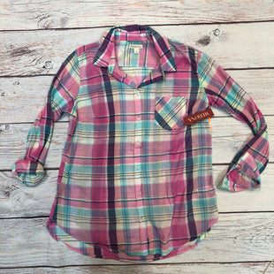 Primary Photo - BRAND: MERONA STYLE: BLOUSE COLOR: PLAID SIZE: L OTHER INFO: NEW! PINK/BLUE/PURPLE/WHITE SKU: 178-178212-2859