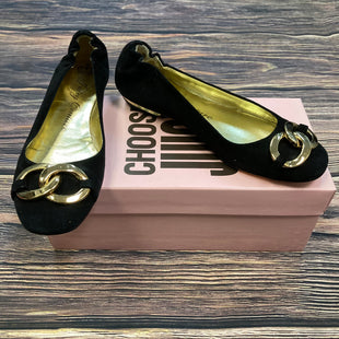 Primary Photo - BRAND: JUICY COUTURE STYLE: SHOES FLATS COLOR: BLACK SIZE: 7.5 OTHER INFO: GOLD BUCKLE SKU: 178-178182-3348