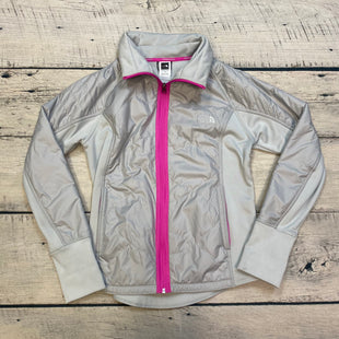 Primary Photo - BRAND: NORTHFACE STYLE: ATHLETIC JACKET COLOR: GREY SIZE: L OTHER INFO: PINK TRIM - SLIGHT STAINING SKU: 178-17824-11406