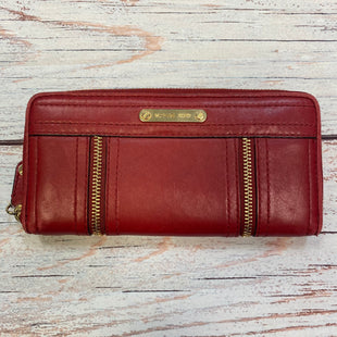 Primary Photo - BRAND: MICHAEL BY MICHAEL KORS STYLE: WALLET COLOR: RED SIZE: MEDIUM OTHER INFO: SLIGHT SCUFFING-$99-MOXLEY CONTINENTAL SKU: 178-178203-1566