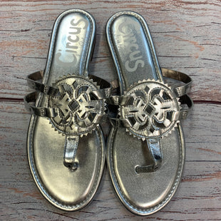 Photo #1 - BRAND: CIRCUS BY SAM EDELMAN STYLE: SANDALS FLAT COLOR: SILVER SIZE: 8 OTHER INFO: METALLIC SKU: 178-178199-3860