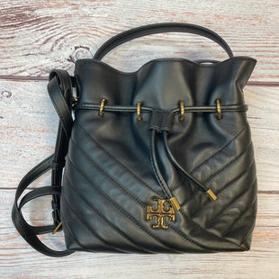 Primary Photo - BRAND: TORY BURCH STYLE: HANDBAG DESIGNER COLOR: BLACK SIZE: MEDIUM OTHER INFO: KIRA-QUILTED XBODY BUCKET W/ GOLD TRIMS SKU: 178-178102-59057