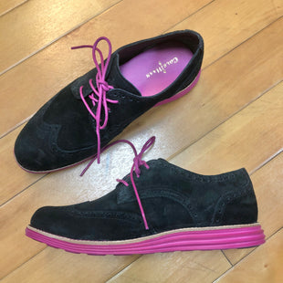 Primary Photo - BRAND: COLE-HAAN STYLE: SHOES FLATS COLOR: BLACK SIZE: 7 OTHER INFO: PURPLE LACES SKU: 178-17883-14732
