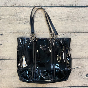 Primary Photo - BRAND: COACH STYLE: HANDBAG DESIGNER COLOR: BLACK SIZE: LARGE OTHER INFO: PATENT LEATHER TOTE W/ SILVER TRIMS SKU: 178-178102-62571