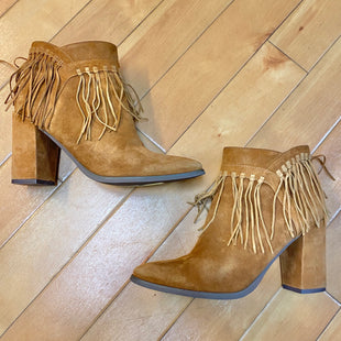 Primary Photo - BRAND: NINE WEST STYLE: BOOTS ANKLE COLOR: CAMEL SIZE: 7.5 OTHER INFO: FRINGE SKU: 178-178199-3263