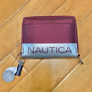 Primary Photo - BRAND: NAUTICA STYLE: WALLET COLOR: BURGUNDY SIZE: MEDIUM OTHER INFO: NEW! SILVER STRIP SKU: 178-178182-2849