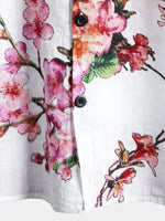 Men's Casual Short Sleeve Floral Print Shirt
