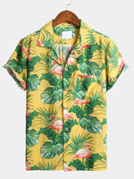 Men's Floral Print Tropical Hawaiian Shirt