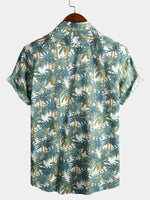 Men's Holiday Cotton Floral Print Shirt