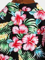 Men's Holiday Floral Print Cotton Shirt