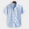 Men's Short Sleeve Cotton Casual Shirt