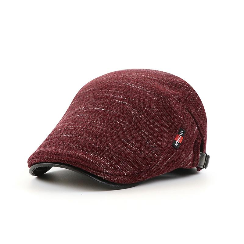 Men's Retro Casual Solid Color Knitted Cap