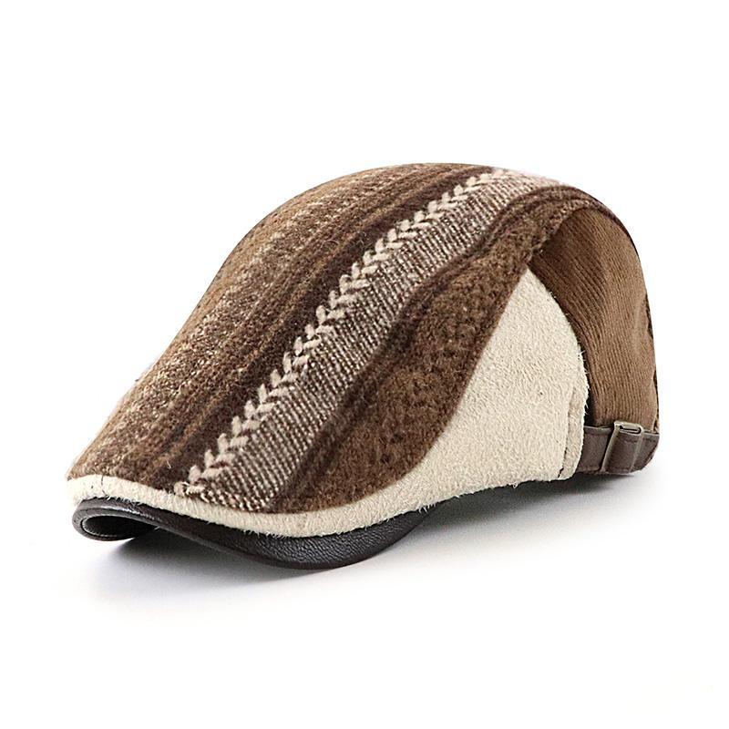 Men's Striped Stitching Casual All-match Cap