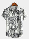 Men's Short Sleeve Striped Shirt