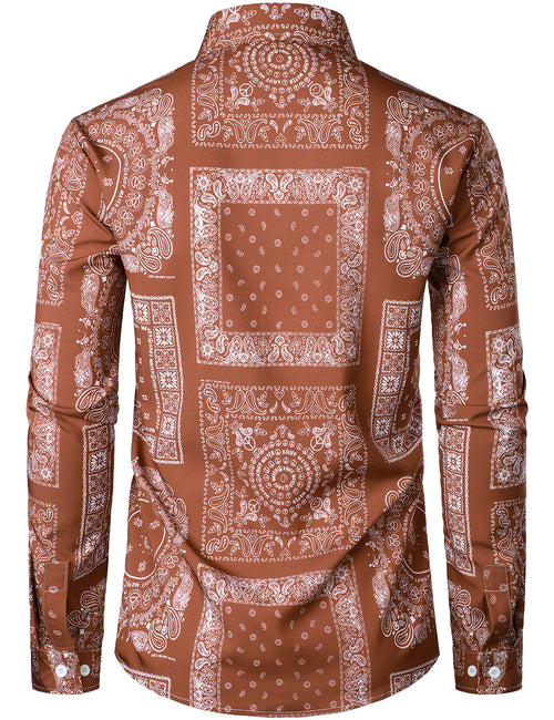 Men's Print Long Sleeve Shirt