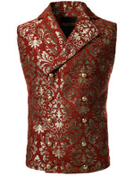 Mens Victorian Double Breasted Vest Gothic Steampunk Waistcoat