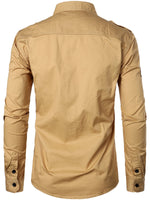 Men's Cotton Lapel Outdoor Casual Long Sleeve Shirt