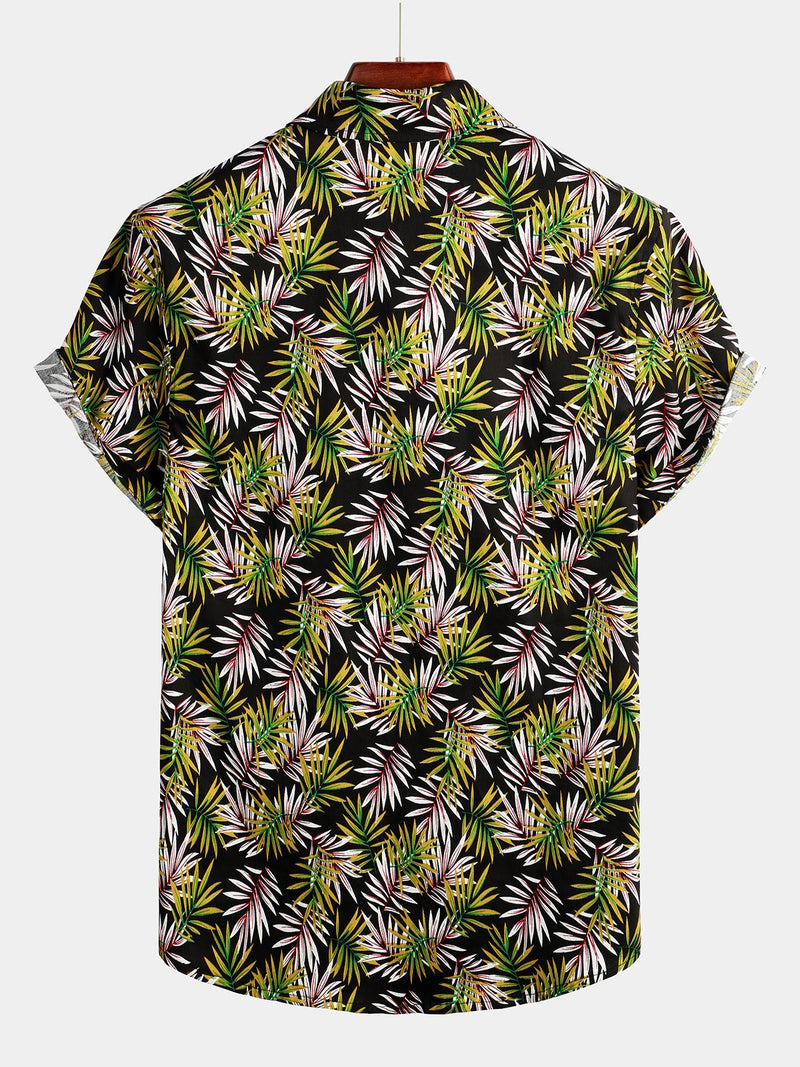 Men's Floral Cotton Tropical Hawaiian Shirt
