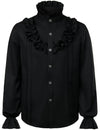 Mens Ruffle Pirate Shirts Medieval Renaissance Cosplay Costume Steampunk Victorian Tops