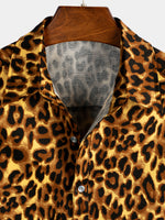 Men's Casual Holiday Leopard-Print Shirt