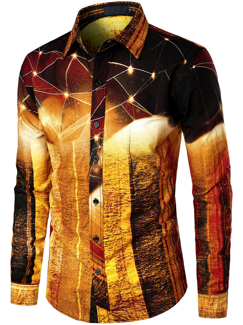 Men's Casual Long Sleeve Cotton Shirt