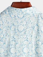 Men's Floral Printed Holiday Cotton Shirt