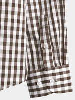 Men's Long Sleeve Cotton Plaid Shirt