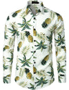 Men's Pineapple Print Long Sleeve Shirt
