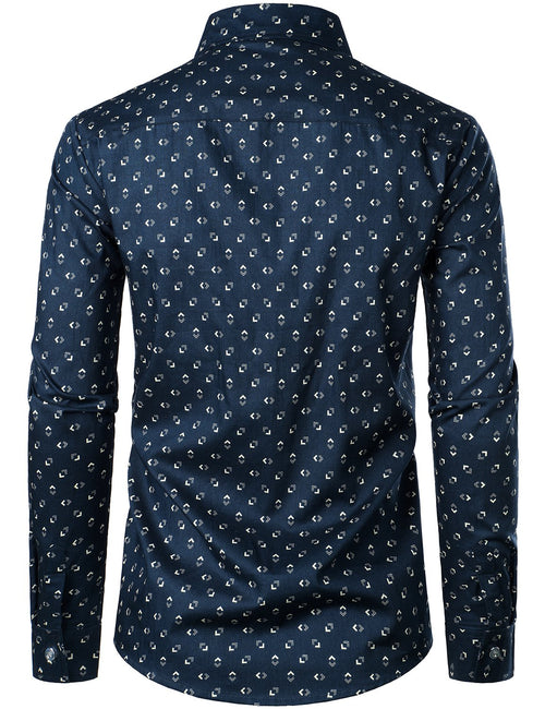 Men's Long Sleeve Casual Button Down Cotton Shirt