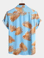 Men's Floral Holiday Cotton Shirt